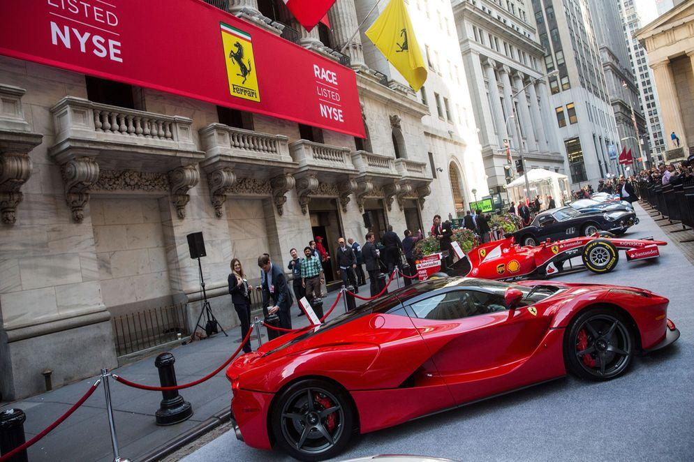 Ferrari debutó con éxito en Wall Street