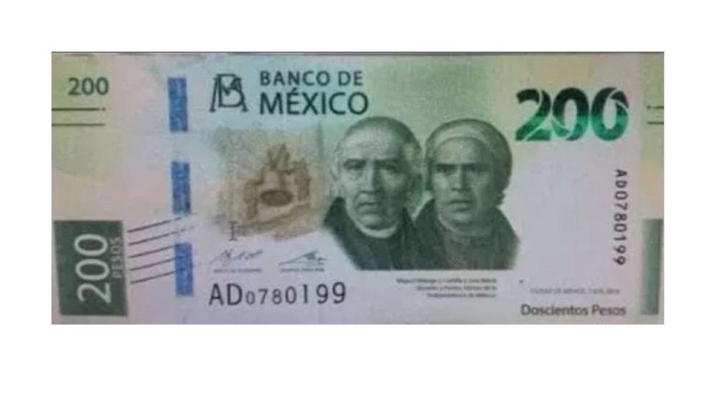 nuevo billete 200 pesos de México